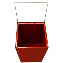 Witt Geocube 24 Gallon Recycling Bin Opening: Square for Plastic & Waste, Gallon Capacity: 32 Gallon, Stainless Steel in Scarlet | Wayfair