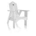 Uwharrie Chair Original Wood Adirondack Chair in Blue, Size 45.5 H x 33.0 W x 36.0 D in | Wayfair 1011-030-Distressed