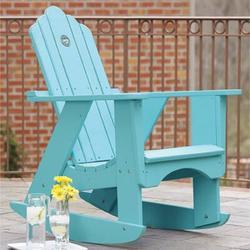 Uwharrie Chair Original Wood Rocking Adirondack Chair in Blue, Size 45.0 H x 33.0 W x 38.0 D in | Wayfair 1012-030-Wash