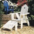Uwharrie Chair Original Wood Adirondack Chair in Blue, Size 45.5 H x 33.0 W x 36.0 D in | Wayfair 1011-027-Wash