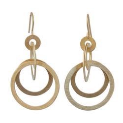 'Mekong Sun' - Thai 24k Gold Plated Dangle Earrings