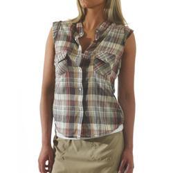 KAVU Women's Giddy Up Cap Sleeve Tee, Rust, X Large