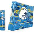 Skinit Decal Gaming Skin Compatible with Wii (Includes 1 Controller) - Officially Licensed NFL Los Angeles Chargers - Blast Design