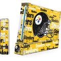 Skinit Decal Gaming Skin Compatible with Wii (Includes 1 Controller) - Officially Licensed NFL Pittsburgh Steelers - Blast Design
