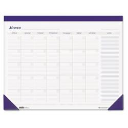 House of Doolittle Nondated Desk Pad CalendarFaux Leather in White, Size 0.25 H x 22.0 W x 17.0 D in   Wayfair HOD464