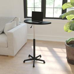 Flash Furniture Adjustable Laptop Cart Metal in Black, Size 27.0 H x 25.5 W x 22.5 D in   Wayfair NAN-JN-2792-GG