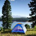 wakeman Happy Camper Two Person Tent w/ Carry Bag Steel in Blue/Gray, Size 42.0 H x 60.0 W x 76.0 D in   Wayfair 80-170T
