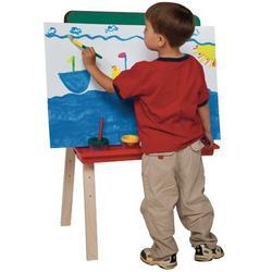 Wood Designs Folding Board EaselChalkboard/Wood in Brown, Size 36.0 H x 20.0 W x 24.0 D in   Wayfair 17500