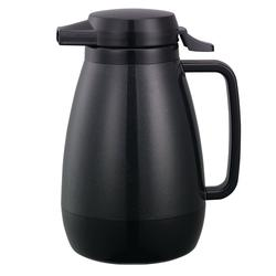 Service Ideas PB501BL 3/5 liter Coffee Server w/ PushButton Lid, Smooth Body, Black