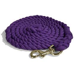 Intrepid International Lead Rope Cotton with Brass Snap Heavy Duty 10-Feet Lead Rope, Purple