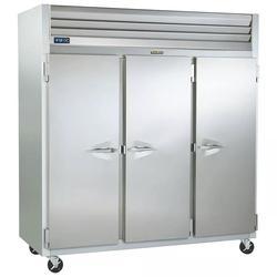 "Traulsen G30010 76 3/10"" Three Section Reach In Refrigerator, (3) Left/Right Hinge Solid Doors, 115v"
