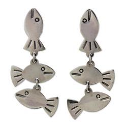 'Silver Fishies' - Thai Sterling Silver Dangle Earrings