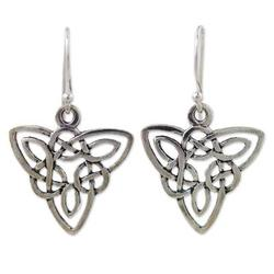 'Star Legends' - Sterling Silver Dangle Earrings from Thailand