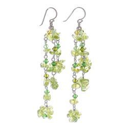 Peridot earrings, 'Lime Rain' - Thai Peridot Dangle Earrings