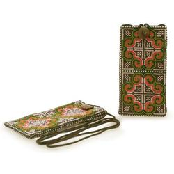 'Distant Lands' (pair) - Hill Tribe Cotton Embroidered Cell Phone Cases