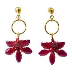 'Spring Celebration' - Thai Natural Flower Dangle Earrings