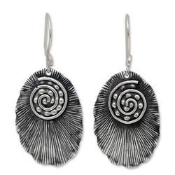 'Lanna Glamour' - Thai Sterling Silver Dangle Earrings