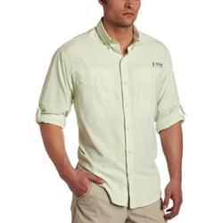 Columbia Men's Plus Tamiami II Long Sleeve Shirt, Light Lime - Medium