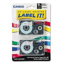 Casio Ruban adhésif pour étiqueteuse électronique Noir sur blanc 2 x 9 mm (Import Royaume Uni)