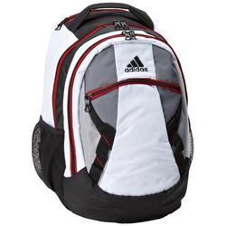 adidas Hunter Backpack, White/Lead Grey/Scarlet, One Size Fits All