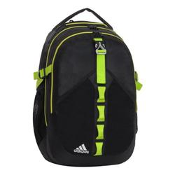 adidas Barker Backpack, Black/Lab Lime, One Size Fits All