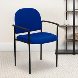 Flash Furniture Armless Stackable Chair Plastic/Acrylic/Metal in Blue, Size 33.75 H x 23.75 W x 20.5 D in | Wayfair BT-516-1-NVY-GG