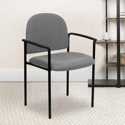 Flash Furniture Armless Stackable Chair Plastic/Acrylic/Metal in Gray, Size 33.75 H x 23.75 W x 20.5 D in   Wayfair BT-516-1-GY-GG
