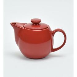 Omniware Teaz 0.34-qt. Teapot w/ Infuser Stoneware/Terracotta in Red, Size 4.5 H x 6.5 W x 4.25 D in | Wayfair 1508725