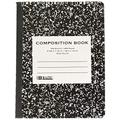 BAZIC W/R 100 Ct. Black Marble Composition Book, Case Pack 48