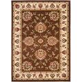 """Safavieh Lyndhurst Collection LNH555 Traditional Oriental Non-Shedding Living Room Bedroom Dining Home Office Area Rug, 5'3"""" x 7'6"""", Brown / Ivory"""