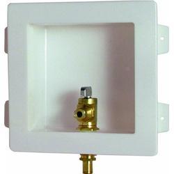 Viega 43722 PureFlow Zero Lead Brass PEX Crimp Icemaker Box with 3/8-Inch Valve Crimp, 10-Pack