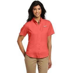 Columbia Women's Tamiami II Short Sleeve Shirt, Medium, Wild Melon