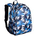Wildkin 15 Inch Kids Backpack for Boys & Girls, 600-Denier Polyester Backpack for Kids, Features Padded Back & Adjustable Strap, Perfect Size for School & Travel Backpacks, BPA-free (Blue Camo)