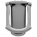 Baldwin 0105 Tahoe Style Solid Brass Door Knocker Satin Chrome