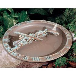 Whitehall Products Hummingbird Sundial Birdbath Metal in Green, Size 12.0 H x 12.0 W in | Wayfair 01258
