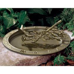 Whitehall Products Hummingbird Sundial Birdbath Metal, Size 12.0 H x 12.0 W in | Wayfair 01256