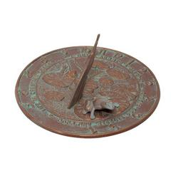 Whitehall Products Frog Sundial Metal, Size 12.0 W x 12.0 D in | Wayfair 00493