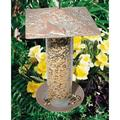 Whitehall Products Cardinal Tube Bird Feeder Metal in Green, Size 14.5 H x 9.5 W x 9.5 D in | Wayfair 30036