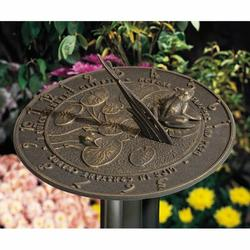 Whitehall Products Frog Sundial Metal, Size 12.0 W x 12.0 D in | Wayfair 00492