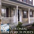 """Colonial Porch Post - 6"""" x9' (5-1/4"""" x 108"""") - Galvanized Steel Pipe Inside Synthetic Shell - Load Bearing. Unfinished and ready to paint."""