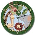"Fancy This Zoo Safari Animals Jungle Wall Art Clock Nursery Large 10 1/2"""