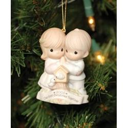 """Precious Moments 4003163 """"Our First Christmas Together"""" Dated 2005"""
