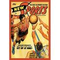 Buyenlarge Sports Magazine Basketball Vintage Advertisement on Wrapped CanvasCanvas & Fabric in White, Size 36.0 H x 24.0 W x 0.75 D in | Wayfair