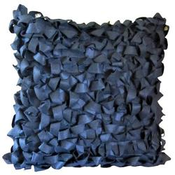 Debage Inc. Looped Throw PillowPolyester/Polyfill in Black, Size 22.0 H x 22.0 W x 4.0 D in   Wayfair W-11495