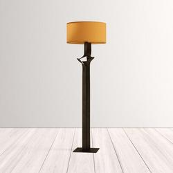 "Hubbardton Forge Antasia 59"" Floor Lamp Metal in White/Brown, Size 58.6 H x 18.0 W x 18.0 D in | Wayfair 232810-20-753"