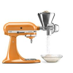 KitchenAid All Metal Grain Mill Attachment for Stand Mixers in Gray, Size 8.25 H x 4.25 W x 7.5 D in | Wayfair KGM