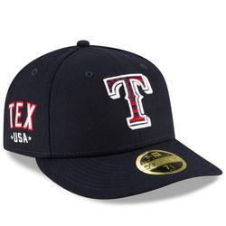 """""""Men's New Era Navy Texas Rangers 4th of July On-Field Low Profile 59FIFTY Fitted Hat"""""""
