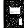 Top Flight Sewn Marble Composition Book, Black/White, Wide Rule, 9.75 x 7.5 Inches, 100 Sheets, Pack of SIX Comp Books (41353-6)