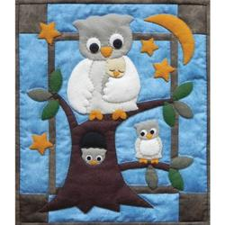 Rachel's Of Greenfield Owl Family Wall Hanging Quilt Kit, 13 by 15-Inch