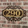 LaRoyal House Number Plaque Gold/Bronze One to Three Numbers, One to Three Numbers, Gold/Bronze